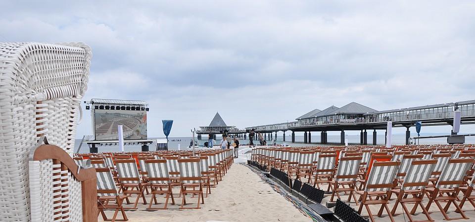 ZDF am Strand von Heringsdorf Usedom