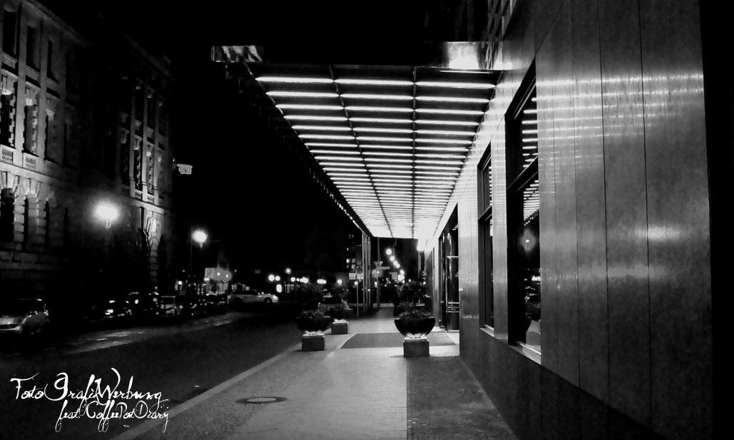Berlin bei Nacht - schwarz weiß