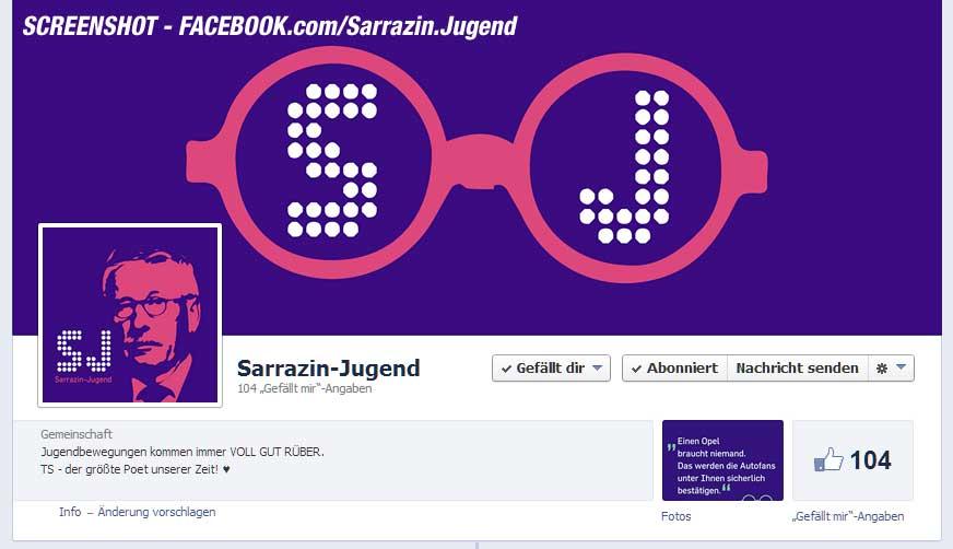 Facebook, Sarrazin Jugend, Thilo Sarrazin