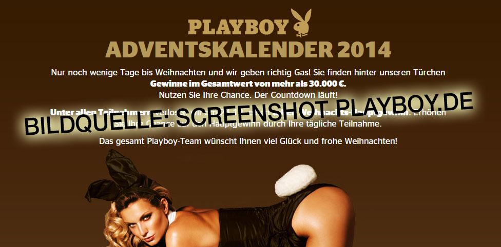Auch in diesem Jahr – Playboy Adventskalender 2014