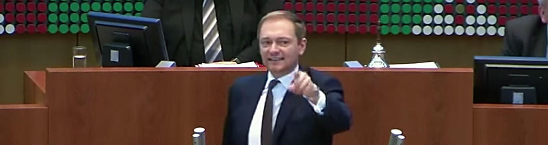Christian Lindner geht im NRW Landtag durch die Decke – DAS Video
