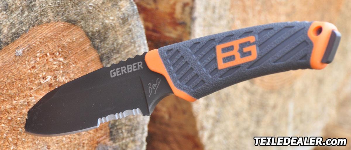 Gerber Bear Grylls compact blade survival knife messer