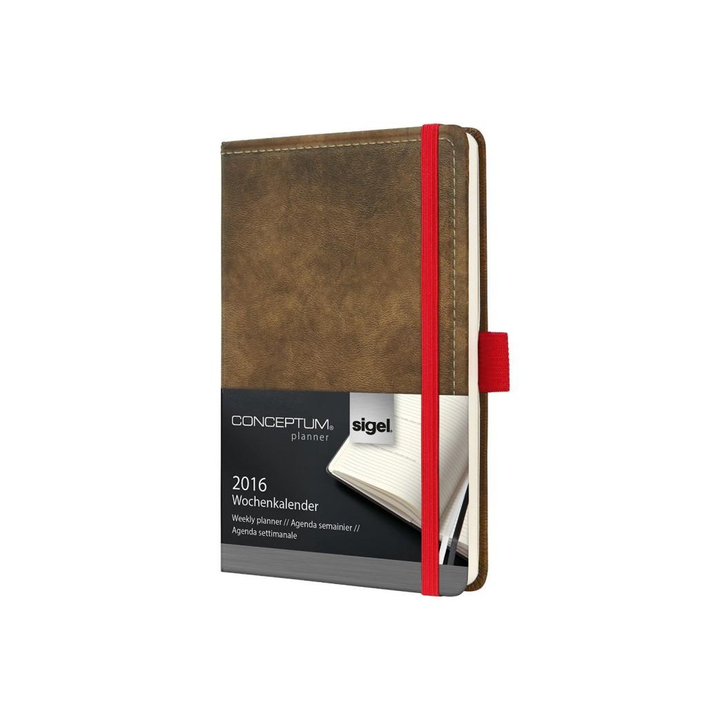 Sigel Vintage Conceptum Kalender Terminplaner Buchkalender Wochenplaner 2016
