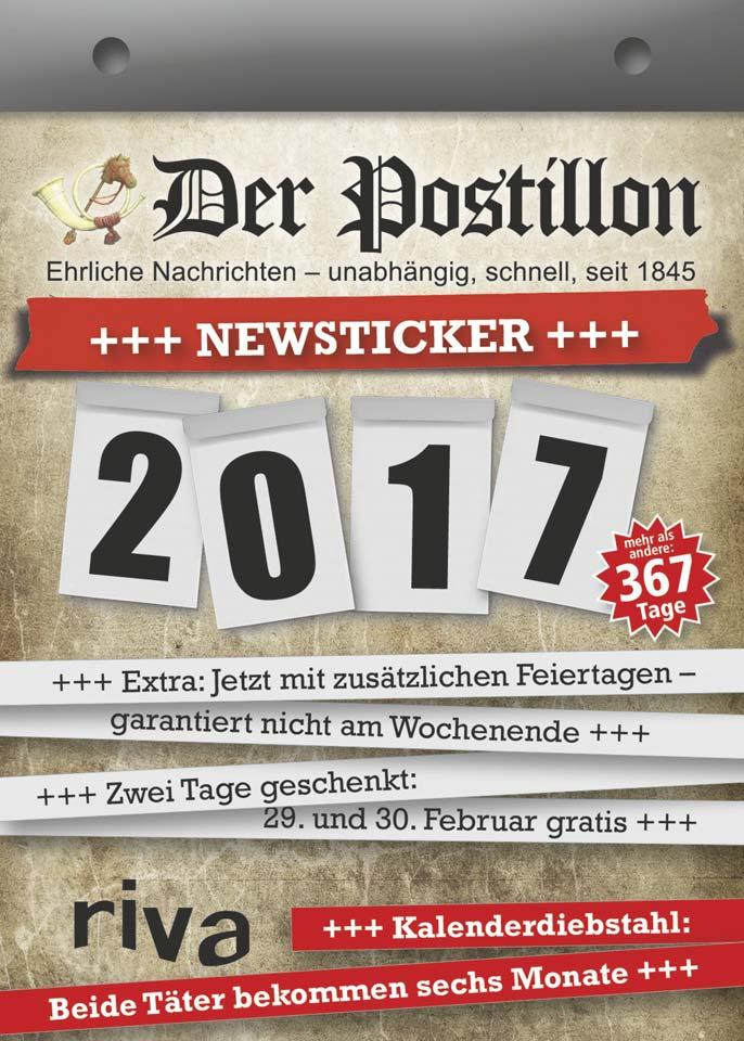 postillon newsticker kalender 2017