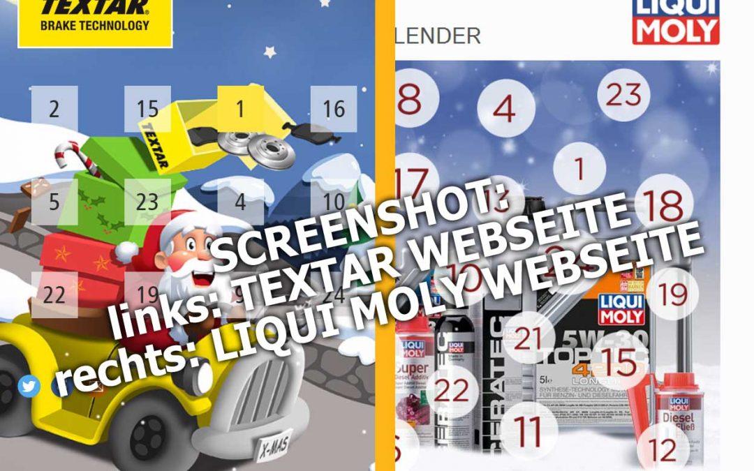 TEXTAR und Liqui Moly Adventskalender 2016 – für Autofreunde