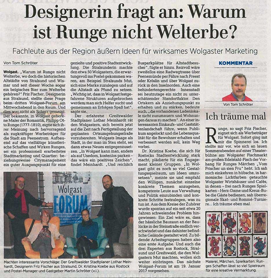 Ostsee Zeitung Wolgast Visionen