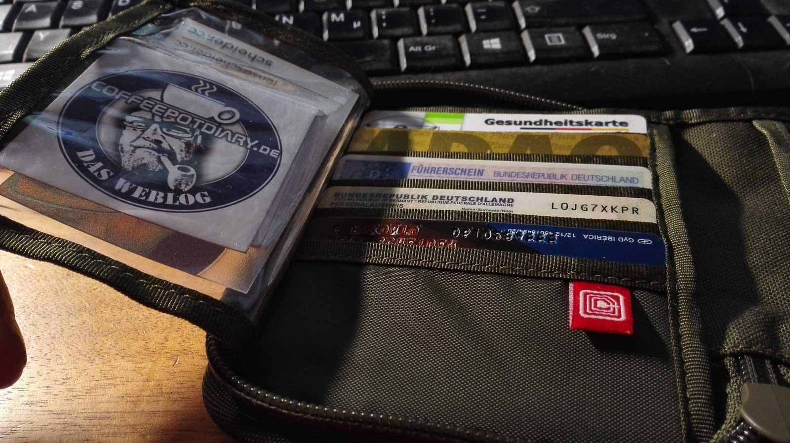 TASMANIAN TIGER Geldbeutel Geldbörse Wallet RFID Block innen 4