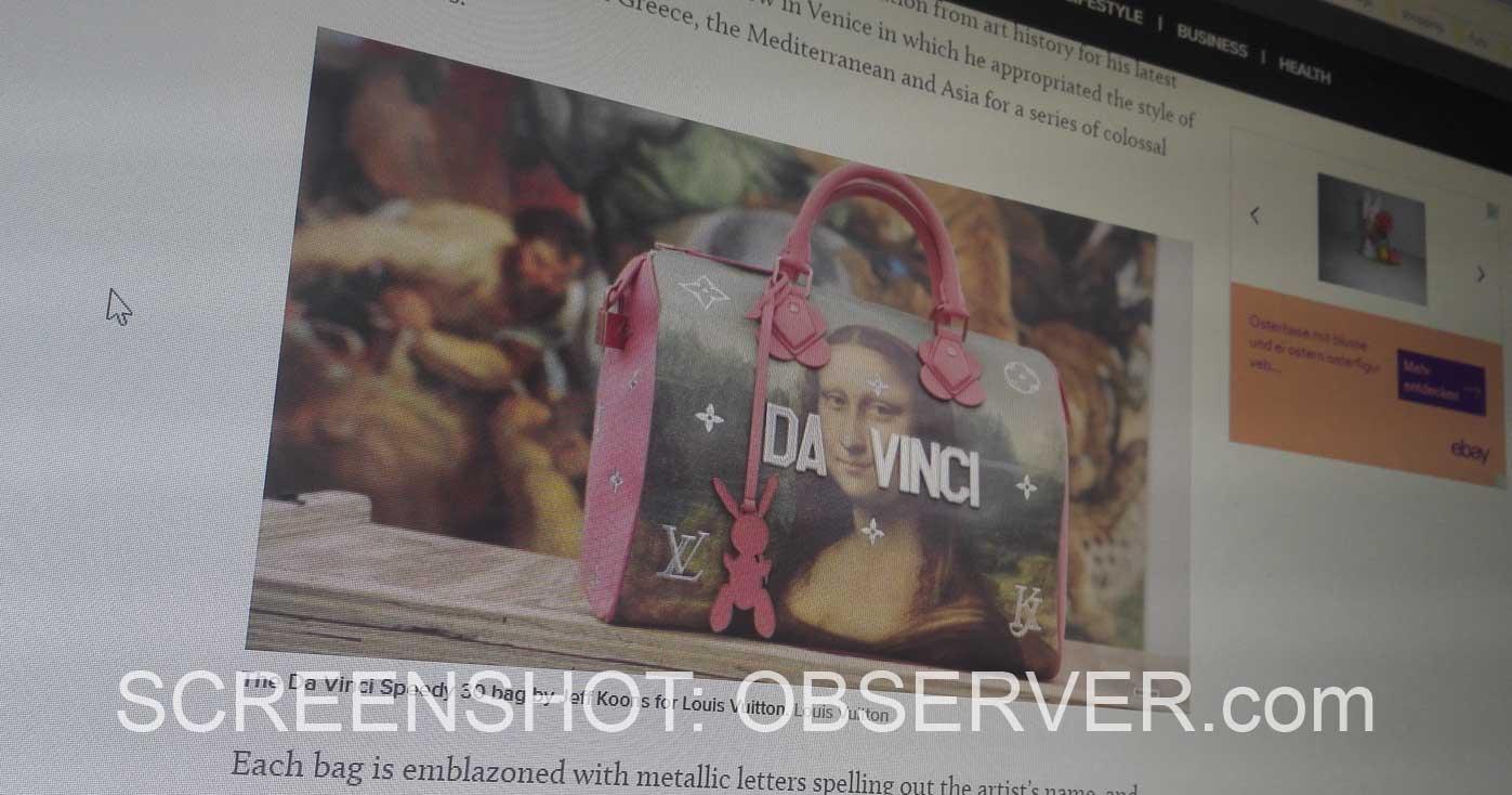 Luis Vuitton Jeff Koons Accessoires Bags Scarves Keychains Art