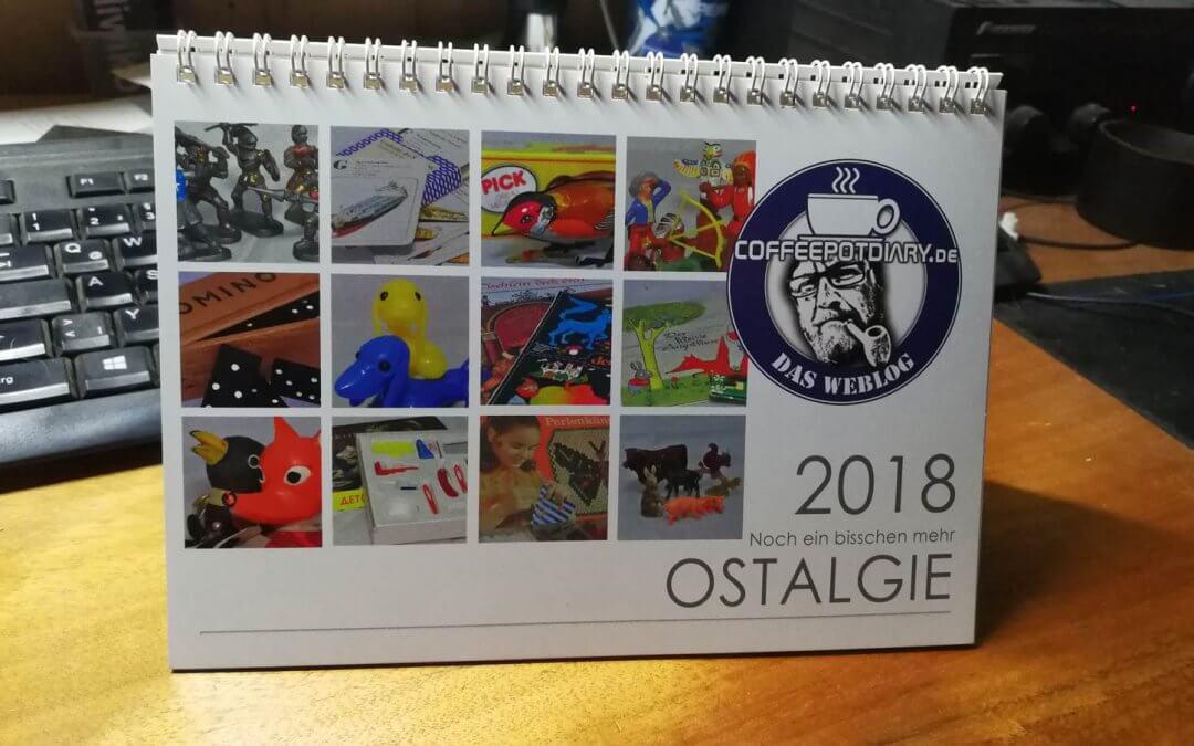 Coffeepotdiary Kalender 2018 – in der DDR Spielzeugkiste gekramt